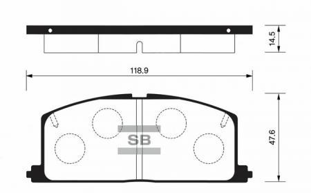 Колодки тормозные передниеToyota Camry 82-88 / Carina 82-93 / C SP1105