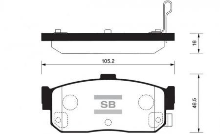 HI-Q SP1107-R Колодки тормозные задние Almera 96-00 Altima 95-01 Maxima 00- SP1107R