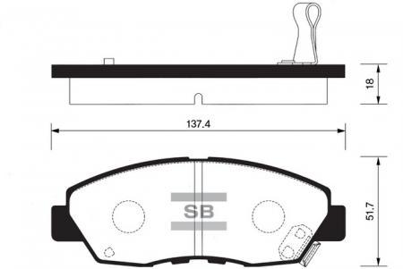 Колодки тормозные передниеHonda Accord 90-93 Automat SP1109