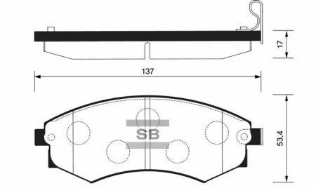 Колодки тормозные передние HYUNDAI Matrix SANGSIN SP1111 SP1111