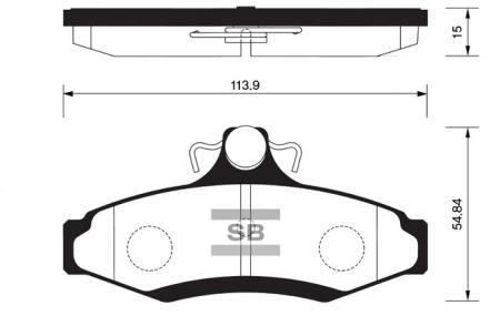Колодки тормозные дисковые задние Leganza/Nubira (Корея, Sangshin) SP1114