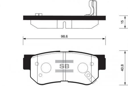 Колодки тормозные SP-1117