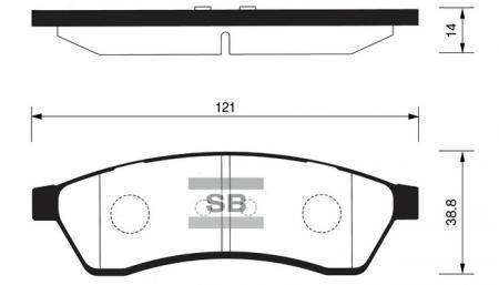 Колодки тормозные SP-1119R