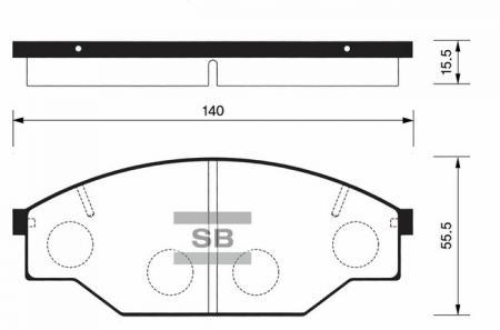 комплект колодок тормозных передних SP1121