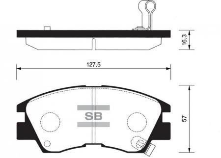 Колодки тормозные передниеMitsubishi L200 86-96 / L300 83-99 SP1135