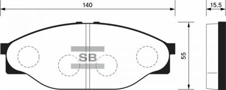 Колодки тормозные передниеToyota HiAce 89-95 / HiLux 97-01 SP1139