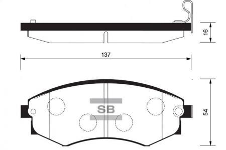 Колодки тормозные SSANGYONG REXTON передние SP1144