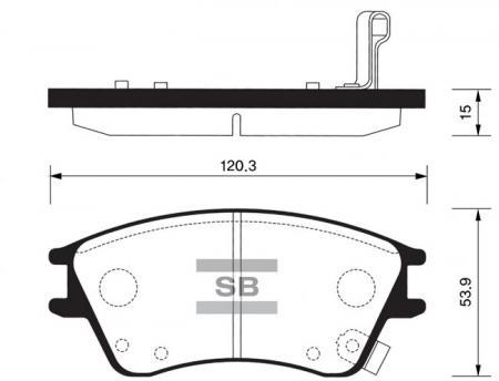 Колодки тормозные SP-1147