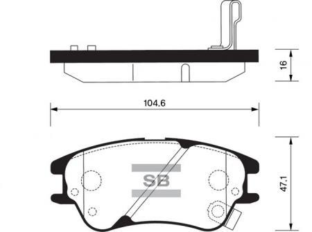 Колодки тормозные HYUNDAI ATOS передние SP1149