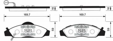 Колодки тормозные SSANGYONG KORANDO / MUSSO передние SP1150