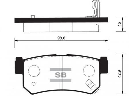 Колодки тормозные SP-1151