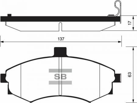 Колодки тормозные SP-1152