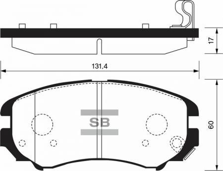 Колодки тормозные SP-1155