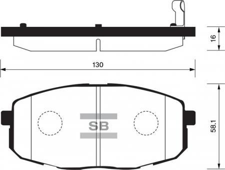 HI-Q SP1162 Колодки тормозные передние Carens 02-06 SP1162
