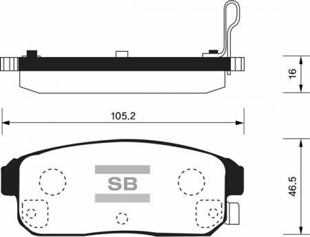 HI-Q SP1163 Колодки тормозные задние Maxima 01- Suzuki Ignis SP1163