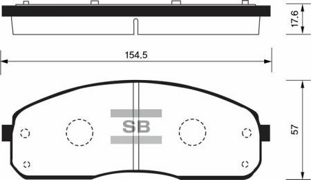 комплект колодок тормозных передних SP1175