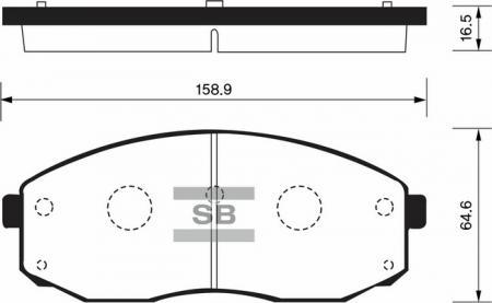 комплект колодок тормозных передних SP1176