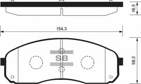 Колодки тормозные KIA CARNIVAL / SEDONA передние SP1177