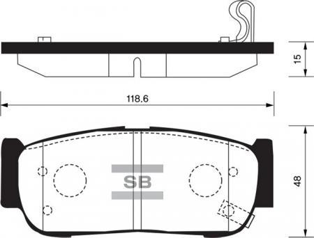 Колодки тормозные SP-1178