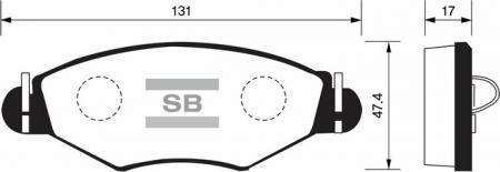 Колодки тормозные передниеPeugeot 206 00-07 1.1, 1.4i, 1.4i 1 SP1179