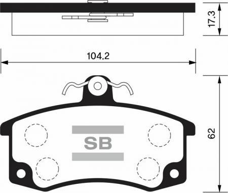 комплект колодок тормозных передних SP1181