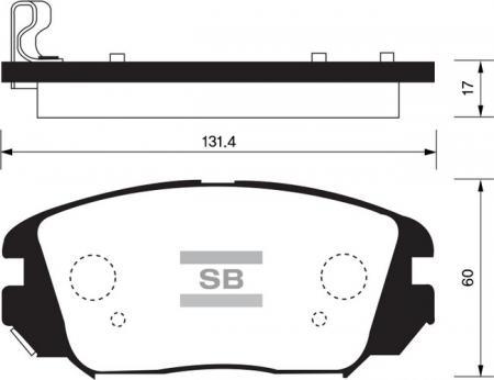 Колодки тормозные SP-1182