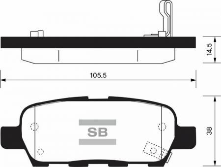 Колодки тормозные дисковые комплект 4 шт. SP-1184