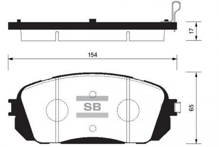 Колодки тормозные SP-1191