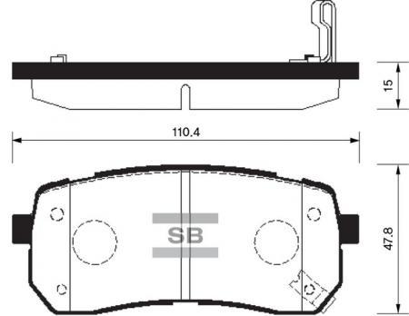 Колодки тормозные SP-1192