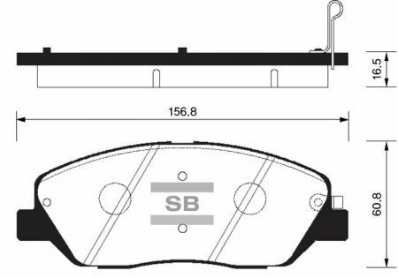 Колодки тормозные передние HYUNDAI Santa Fe 06- SANGSIN SP1194 SP1194