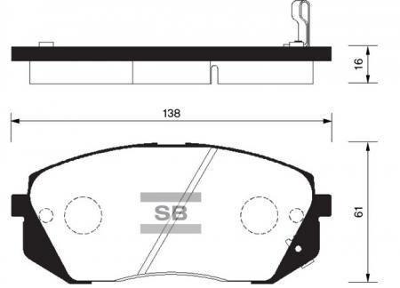 Колодки тормозные SP-1196