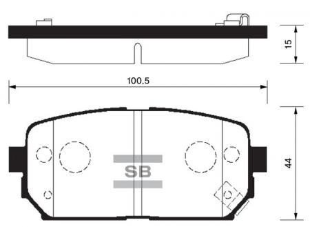 Колодки тормозные SP-1197
