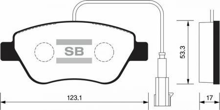 Колодки тормозные OPEL CORSA D / FIAT GRANDE PUNTO 06> передн. комплект SP-1201