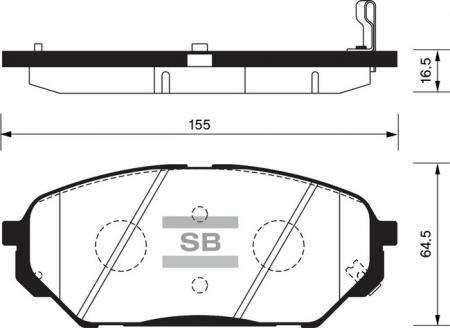 Колодки тормозные HYUNDAI VERACRUZ / i55 передние SP1203