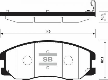 Колодки тормозные SP-1204