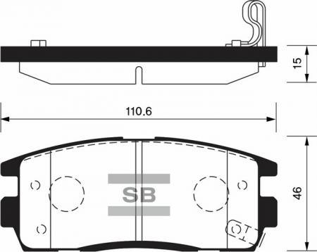 Колодки тормозные SP-1205