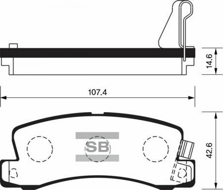 HI-Q SP1208 Колодки тормозные задние Corolla Sprinter SP1208