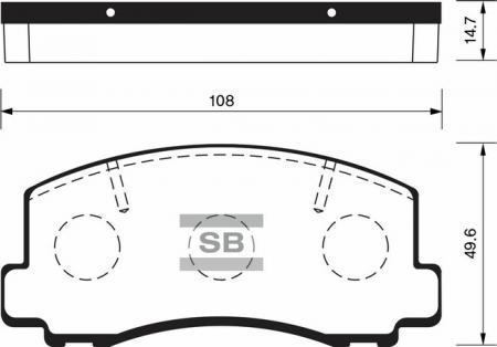 комплект колодок тормозных передних SP1211