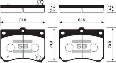 Колодки тормозные передниеFord Escort 91- / / Mazda MAX3 / Xedos SP1216