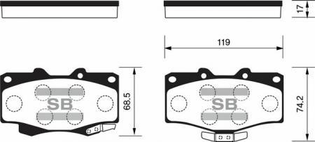 HI-Q SP1222 Колодки тормозные передние 4 Runner HiLux Land Cruiser Prado SP1222