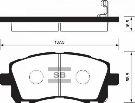 HI-Q SP1225 Колодки тормозные передние Forester Impreza Legasy Outback SP1225