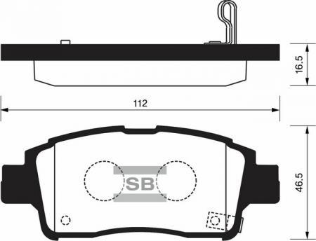 HI-Q SP1230 Колодки тормозные передние Yaris 99-03 SP1230