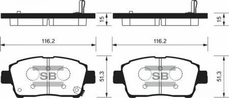 HI-Q SP1232 Колодки тормозные передние Prius 00-04 Yaris SP1232