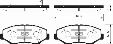 HI-Q SP1237 Колодки тормозные передние Accord 03- CRV 02- SP1237
