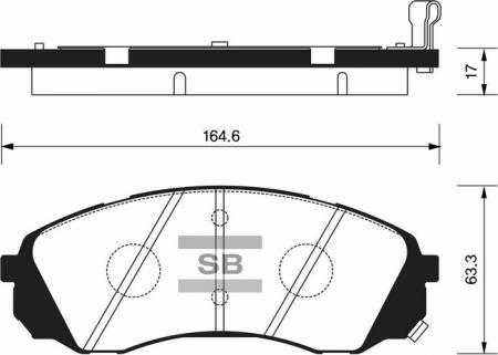Колодки тормозные SP-1238