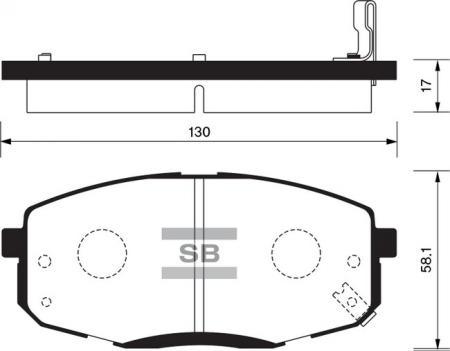 Колодки тормозные SP-1240