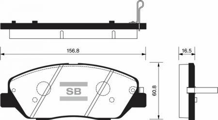 Колодки тормозные HYUNDAI GENESIS 07- передние SP1246