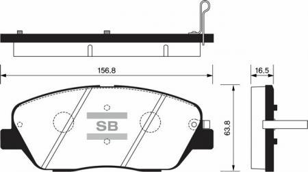 Колодки тормозные KIA MOHAVE 07- передние SP1248