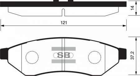 Колодки тормозные CHEVROLET EPICA / EVANDA / MAGNUS задние диск. SP1252