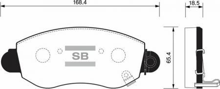 Колодки тормозные FORD TRANSIT 00-06 с индикат.износа передние SP1275